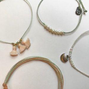 Pura Vida Bracelets Set of 4 New
